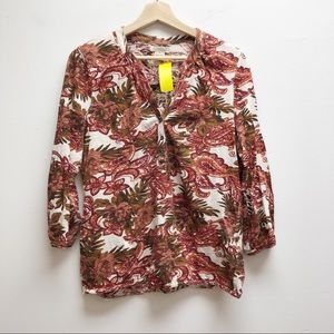 Lucky Brand Medium buyton down shurt 3/4 sleeves